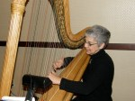 Linda, the harpist, played so beautifully